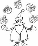 santa claus cartoon for coloring