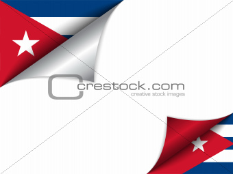 Cuba Country Flag Turning Page