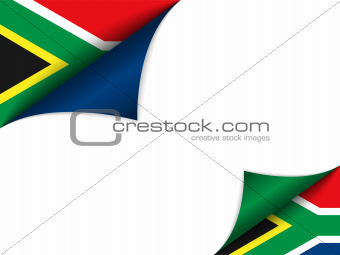 South Africa Country Flag Turning Page
