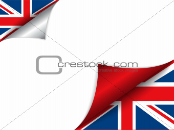 United Kingdom Country Flag Turning Page
