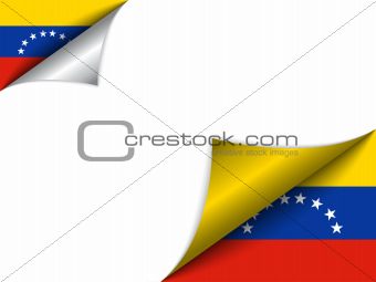 Venezuela Country Flag Turning Page