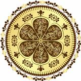 Vintage round frame