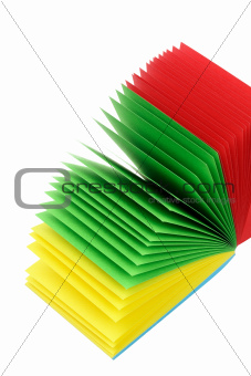 Stack of Color Memo Papers