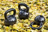 iron  kettlebells outdoors