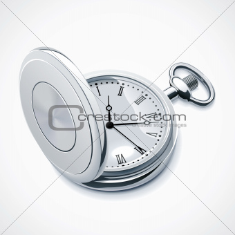 Vector pocket watch