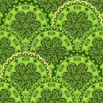 Green-yellow vintage seamless pattern