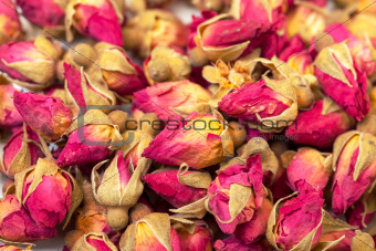 Background of Heap Dried Rosebuds