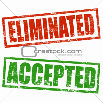 Accepted and Eliminated stamp