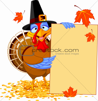 Turkey with Holiday Note
