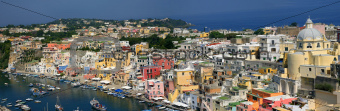 Corricella - Procida, beautiful island in the mediterranean sea,