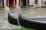 Gondolas prow - Venice, Italy