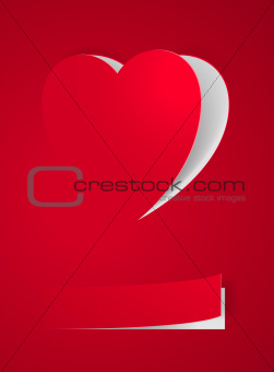 Red Heart Card