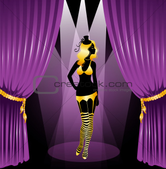 Cabaret woman silhouette