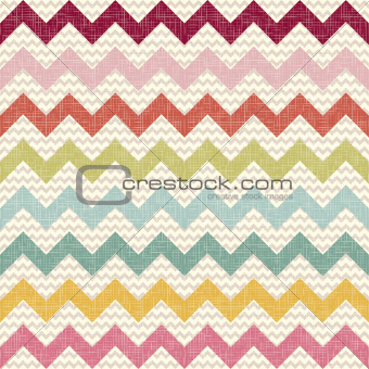 Seamless color chevron pattern on linen texture