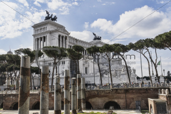 National monument of Vittorio Emanuele II on the the Piazza Vene
