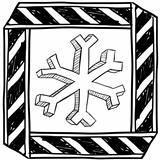 Danger of freezing warning sign