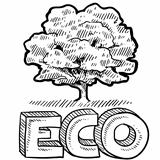 Eco or nature emblem sketch