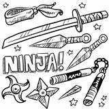 Ninja weapons sketch