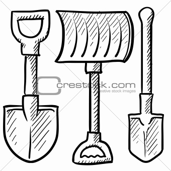 Shovel assortment sketch