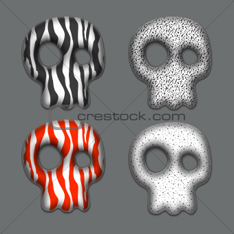 Skulls set.