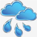 vector icon of rainy weather
