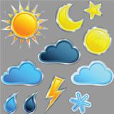 vector set weather icon