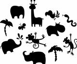 african animal set