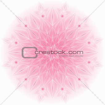 Gentle pink-white frame