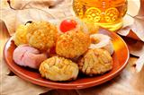 panellets, typical pastries of Catalonia, Spain, eaten in All Saints Day
