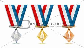 Crystal medals