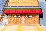 Buddha eyes on Shree Boudhanath Kathmandu Nepal