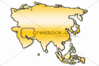Asia outline map