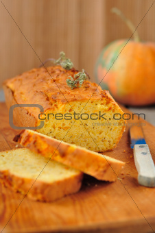 Pumpkin and Thyme Cornmeal Cake