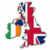 United Kingdom and Ireland flags