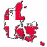 Stylized contour map of Denmark