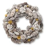 White Christmas door wreath
