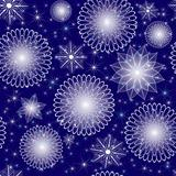 Christmas blue repeating pattern