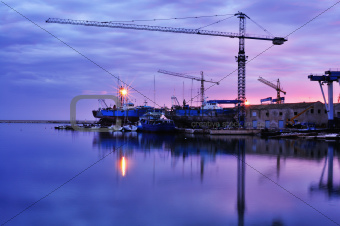 Cranes on Harbour