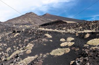 Volcanic landscape, Mount Etna, Sicily