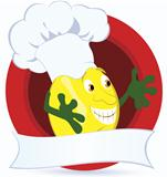 Lemon-cartoon-character-with-promo-ribbon