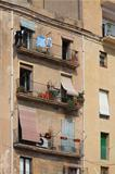 small balcony on the facade of building