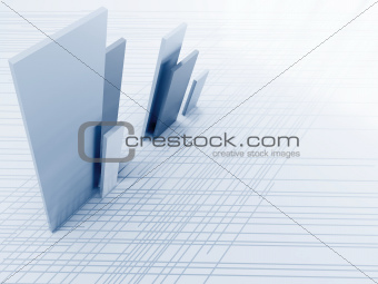Abstract metallic lines and details as a futuristic background