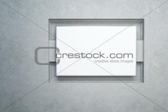 blank white banner