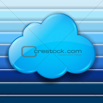 Abstract Blue Background With Speech Bubble Cloud