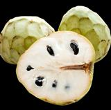 Cherimoya on black