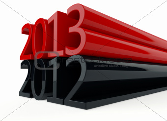 3D new year 2013