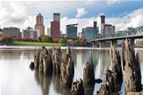 Portland Oregon Waterfront in Autumn