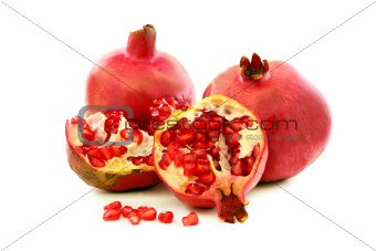 Ripe pomegranate fruit.