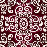 Brown-white vintage seamless pattern