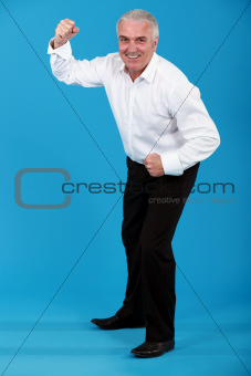 man in a suit dancing